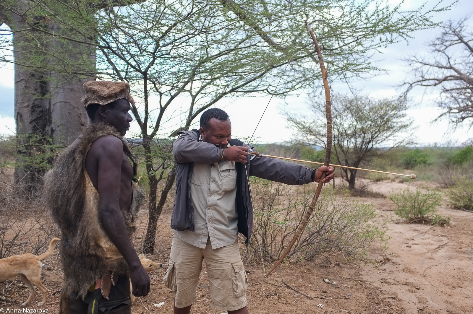 Hunting with Hadzabe tribe, Lake Eyasi