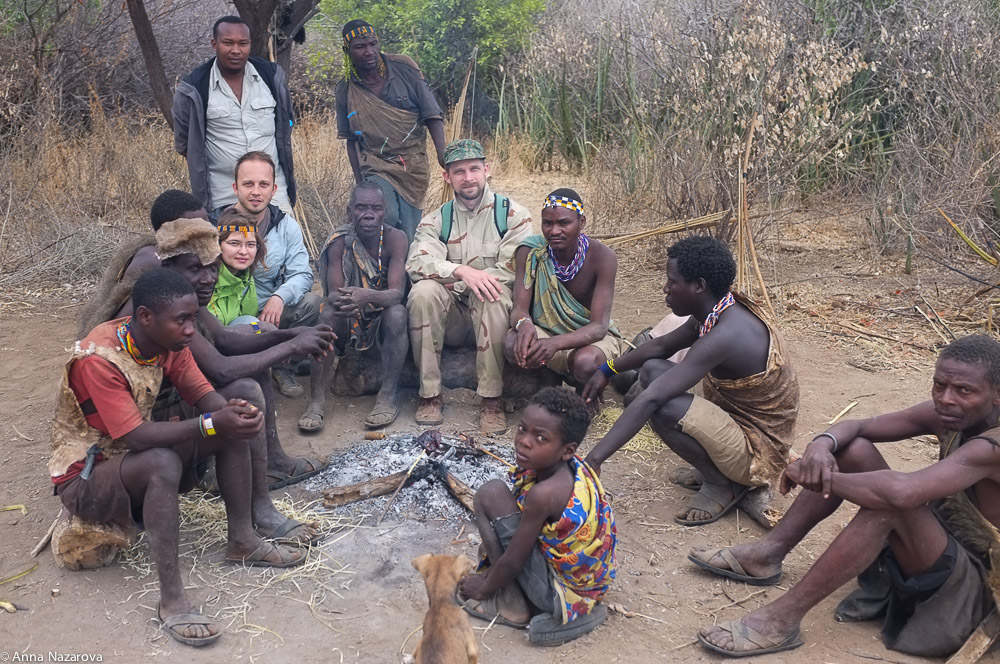 Hadza people at Lake Eyasi