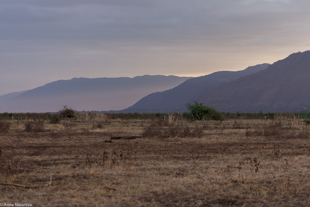 Sunset in Lake Manyara