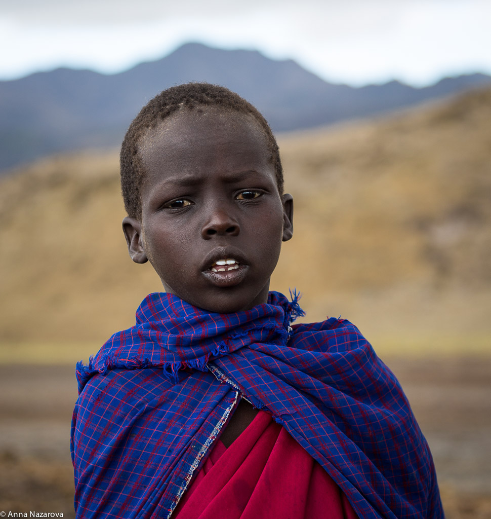 Maasai boy at lake Natron