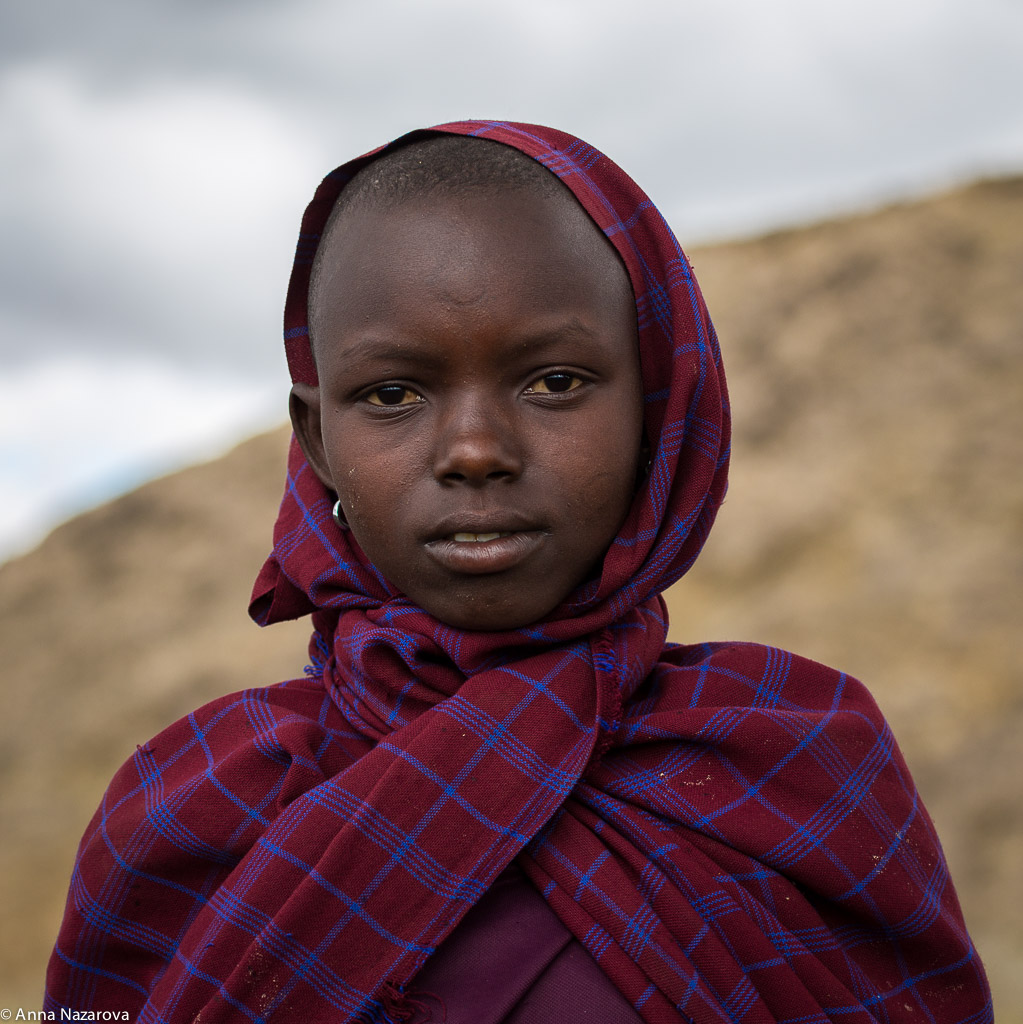 Maasai girl at lake Natron
