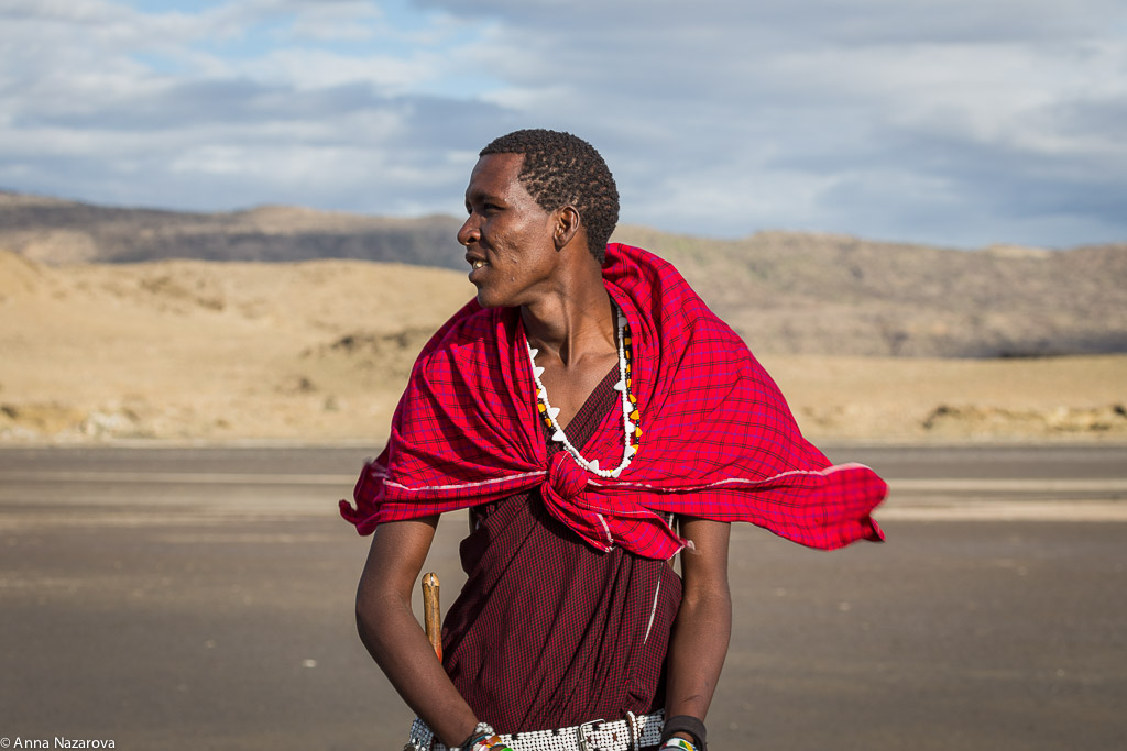 Maasai warrior portrait