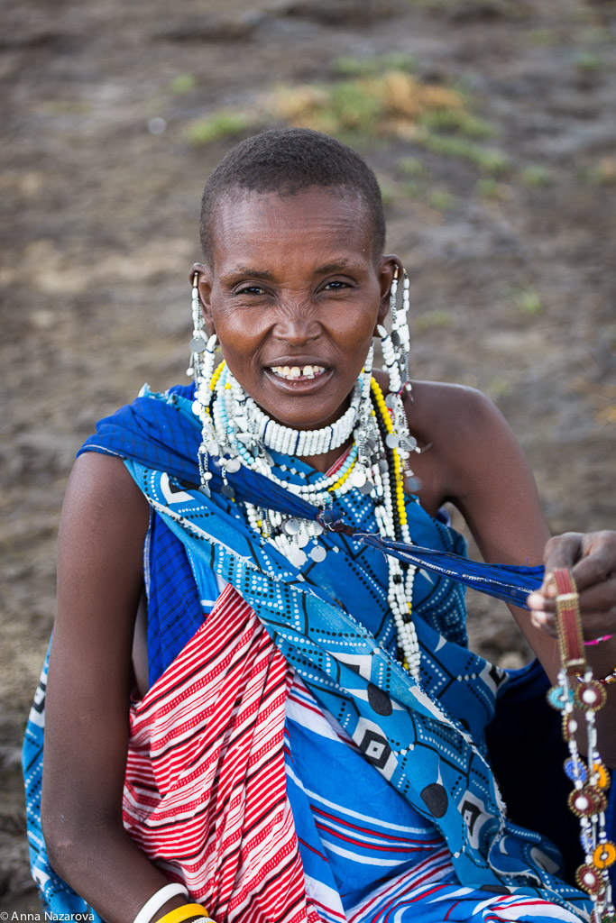 Maasai woman at lake Natron
