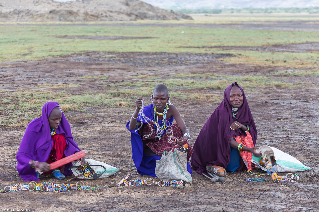 Maasai women at work at lake Natron