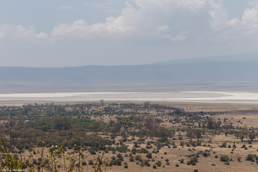 Ngorongoro landscape view