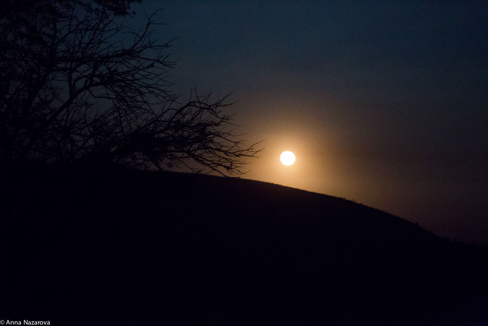 night landscape northern serengeti